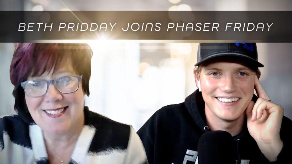 Luke Eggebraaten and Beth Pridday ready to go for Phaser Friday Episode 5