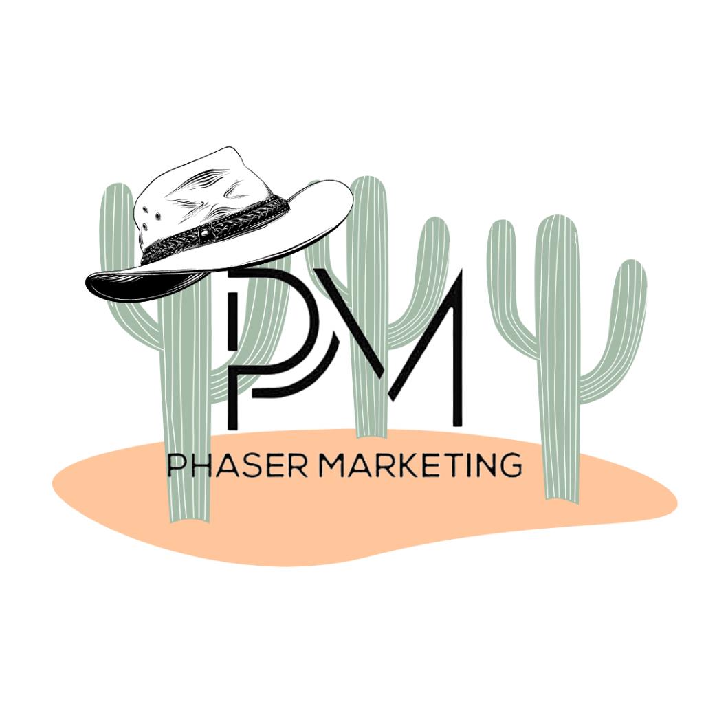 Phaser Logo in the Desert | Marketing Agency in Arizona