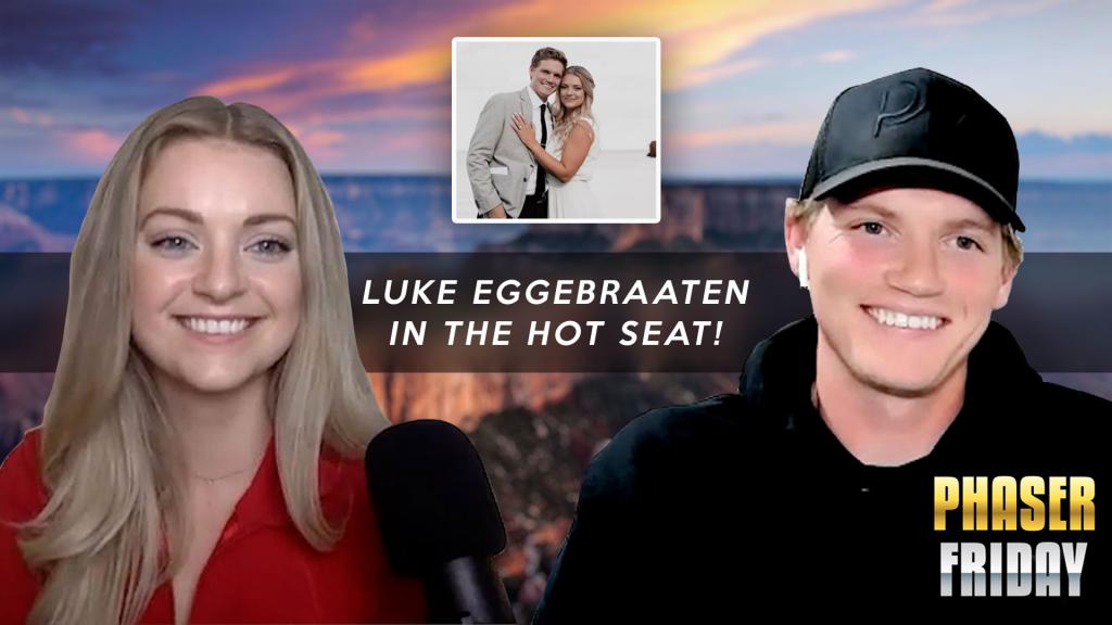 Luke Eggebraaten and his wife Olivia Eggebraaten ready for Phaser Friday Episode 9   Small Business Podcast
